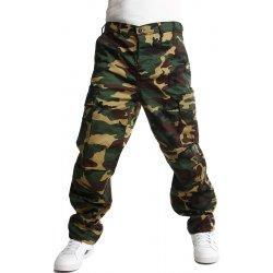 e167cab8eb4 Pánské džíny YooY pánské maskáčové kalhoty zelená 54KY31