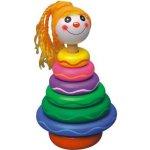 HJ Toys Dřevěné navlékání na tyč Holka