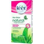 Veet Natural Inspirations Wax Strips voskové pásky normální a suchá pokožka 12 kusů
