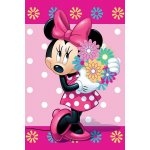 JERRY FABRICS Fleece deka Minnie flowers