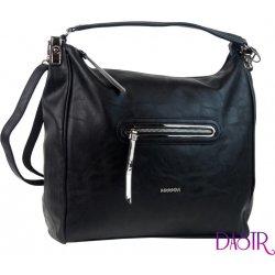 velká dámská kabelka přes rameno Tessra 6338 černá od 660 Kč ... 41465a841fb