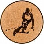 Pohary.com Emblém lyžování sjezd - slalom bronz 25 mm