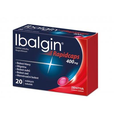 Ibalgin Rapidcaps 400 mg měkké tobolky por.cps.mol. 20 x 400 mg