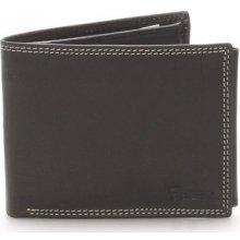 Delami Peněženky Pánská kožená peněženka černá NoNuppi Černá
