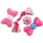 Nobby Puppy Set růžové hračky pro štěně 4ks