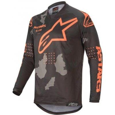 Alpinestars Racer TACTICAL černo-šedo-oranžový maskáčový