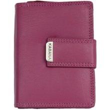 Kabana fuchsia dámská kožená peněženka