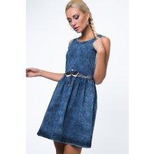 ba75368bf91b Moderní riflové krátké šaty bez rukávů