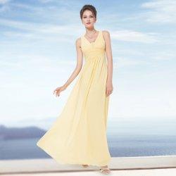 49dcdb9d033 Dlouhé šaty na svatbu i pro těhotné žlutá. Jednoduché víceúčelové  společenské ...