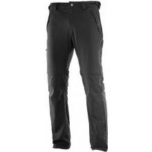 Salomon Wayfarer Zip Pant black 393113 pánské odepínací turistické softshellové kalhoty