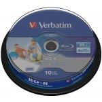 Verbatim BD-R 25GB, 6x, printable, cakebox, 10ks (43804)