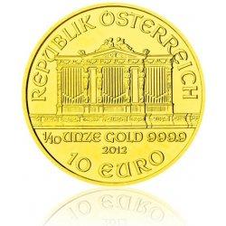 Wiener Philharmoniker Česká mincovna Zlatá investiční mince 1 10 Oz 10 EUR stand 3,11 g