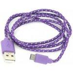 Omega OUFBCPU Micro USB textilní fialový