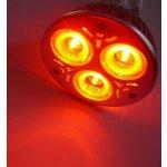 T-Led Barevná LED žárovka E27 3W 230V 60° 50000h Červená