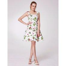 Alisa Pan letní šaty s třešněmi a U výstřihem bílá 8f4839270b