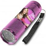 EUROSWAN Dětská hliníková LED baterka Soy Luna růžová Alu 9x3 cm
