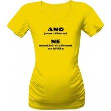 T-shock tričko s potiskem Ano jsem těhotná dámské zlatá