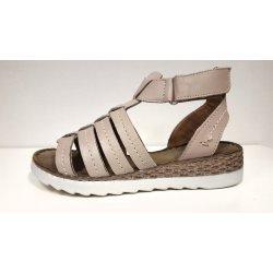 Dámská obuv Sante zdravotní obuv Dámské kožené páskové sandály béžové  zdravotní obuv na klínku SANTÉ VF 1d95463b8f6