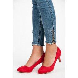 431b80857ee3 BELLE WOMEN 33889R Klasické červené lodičky na nízkém podpatku ...