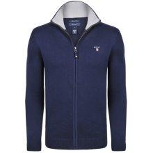 Gant luxusní svetr na zip od Tmavě modrý