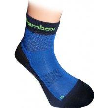 BX-2 FUN bambusové kotníčkové ponožky BAMBOX černá / modrá