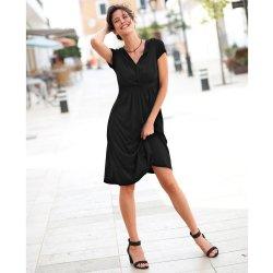 ec33c3c4274 Blancheporte splývavé úpletové šaty černá
