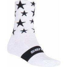 Sensor ponožky Stars bílo-černé