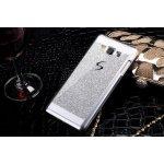 Pouzdro 3DO Samsung Galaxy A5 2015 - STŘÍBRNÉ TŘPYTKY