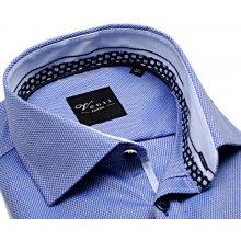 Venti Slim Fit – modro-bílá košile s vetkaným vzorem a vnitřním límcem -  extra 1ae6c68b0b