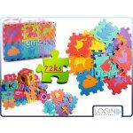 DORIS puzzle písmenka číslice a zvířata 72 ks