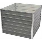 vidaXL 42407 Vyvýšený zahradní záhon 100x100x77 cm pozinkovaná ocel šedá