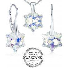 164bd0c7362 Silvego Silvego stříbrný set šperků se Swarovski Crystals Edelweiss LSW185S