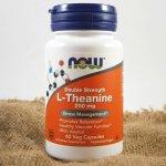 Now L-Theanin Double Strength 200 mg x 60 kapslí