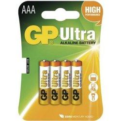 Baterie GP Ultra Alkaline AAA 4ks
