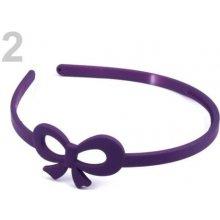 Stoklasa Plastová čelenka s mašlí - 2 fialová švestka