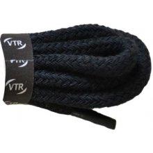 Kulaté černé bavlněné tkaničky 60 cm