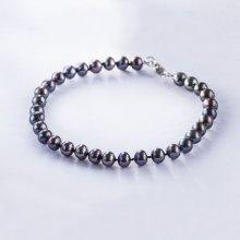 KLENOTA Drobný perlový náramek stříbro kln5176