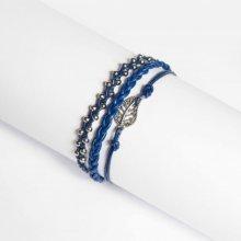 hedy natelKožený náramek modrý modrá 163