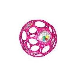 Oball Rattle chrastítko ohebné 10 cm růžové