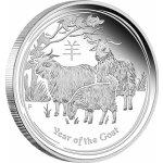 Lunární Stříbrná investiční mince Year of the Goat Rok Kozy 10 Oz 2015