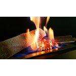Efekt hořící tráva pro bio krb