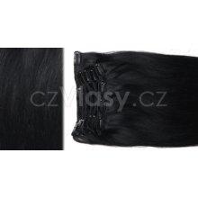 czVlasy.cz Clip in samostatný pás - odstín 1, délka 40 cm, hmotnost 18 gramů