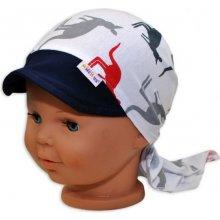 b21990e62cb Baby Nellys Šátek na zavazování s kšiltem Klokani