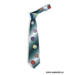 Kravata Soonrich kravata šedá smajlík kor002