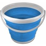 Skládací silikonový kyblík 10l modrý