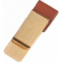 Spona na peníze Zlato - hnědá Leather