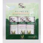 OlivAloe ® Natural cosmetics Tělové mléko Q3 & Q6 + Sprchový gel + Šampon na vlasy 3 x 90 ml dárková sada