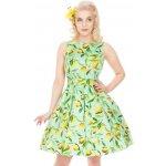 Lady V London šaty s citróny Tea světle zelená 56f61fb232