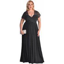 Dámské šaty pro plnoštíhlé černá 885bda55da