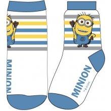 E plus M Chlapecké ponožky Mimoni - bílo-modré